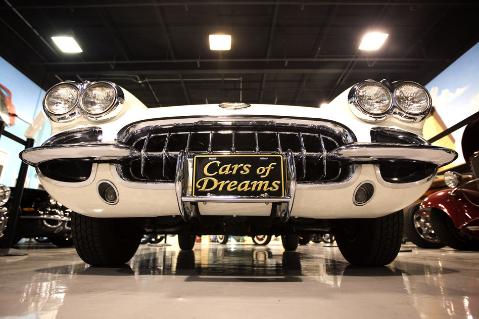 A 1957 Corvette Roadster sits in a North Palm Beach, Fla., private car museum on Nov. 26. (AP)