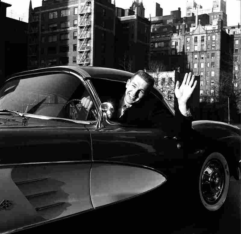 Johnny Unitas of the NFL's Baltimore Colts sits behind the wheel of his new fire-engine red Corvette in New York City, Dec. 31, 1958. The car was presented by Sport Magazine in recognition of Unitas' outstanding performance in the title playoff game.