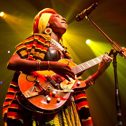 Fatoumata Diwara performs during GlobalFest at New York City's Webster Hall on January 13th, 2013.