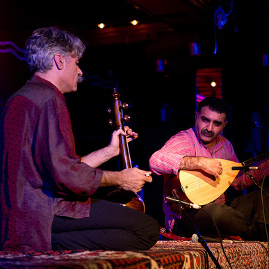 Kayhan Kalhaor and Erdal Erzincan perform during GlobalFest at New York City's Webster Hall on January 13th, 2013.