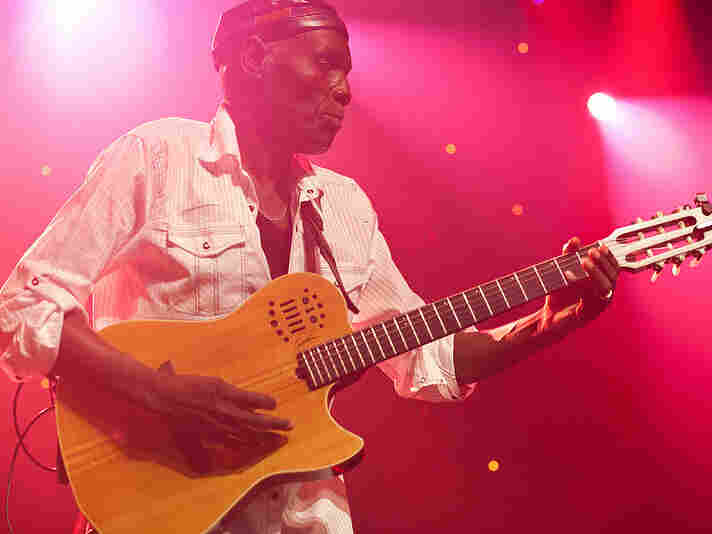 Oliver Mtukudzi performs during GlobalFest at New York City's Webster Hall on January 13th, 2013.