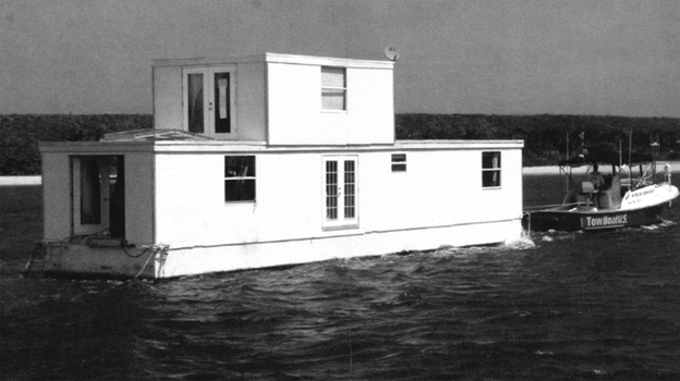 Fane Lozman's floating home is docked at a marina in Riviera Beach, Fla., in this undated photo from court documents. (Reuters/Landov)