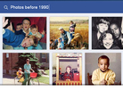 A sample search of Facebook's new Graph Search feature shows users' photographs. The company says users can also look for music.