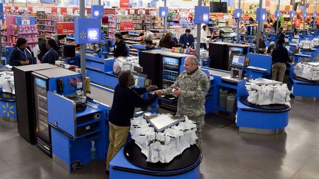 The scene in a Wal-Mart store in Alexandria, Va. (AP)
