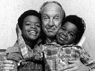 Conrad Bain, with actors Todd Bridges (left) and Gary Coleman (right) in 1978 when they were starring on Diff'rent Strokes.