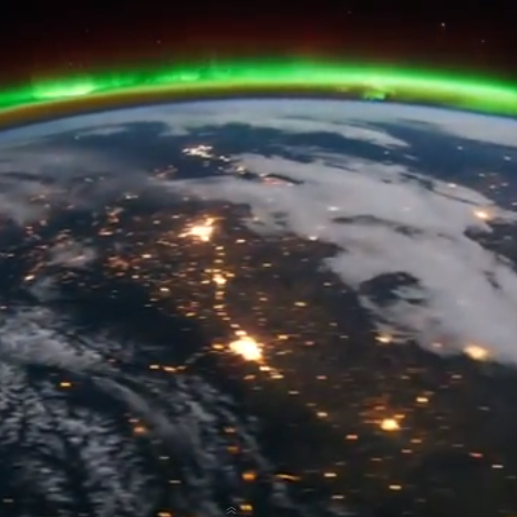 A view from the International Space Station of Edmonton and Calgary, Canada, and North Dakota.