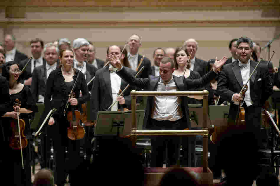 Yannick Nezet-Seguin and the Philadelphia Orchestra receive enthusiast applause after performing the powerfully emotional fifth symphony of Dmitri Shostakovich.