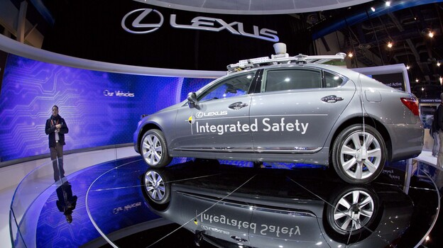 Car companies are picking up automobile concepts such as this Lexus SL 600 Integrated Safety driverless research vehicle, shown at the Consumer Electronics Show in early January in Las Vegas. (AP)