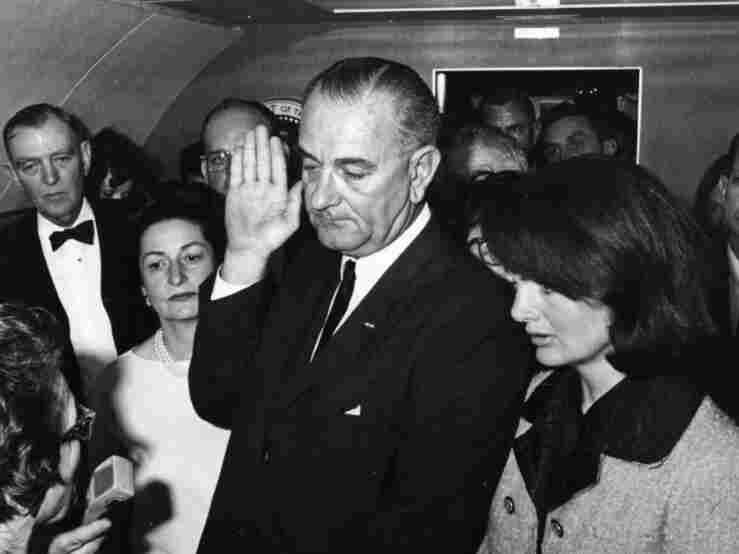 Lyndon Johnson's Oath of Office. Credit: Getty Images.