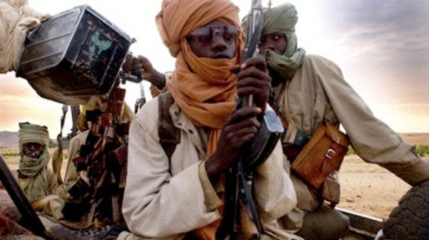 A picture taken with a mobile phone earlier this month purportedly shows Islamist insurgents in Gao, Mali. (AFP/Getty Images)