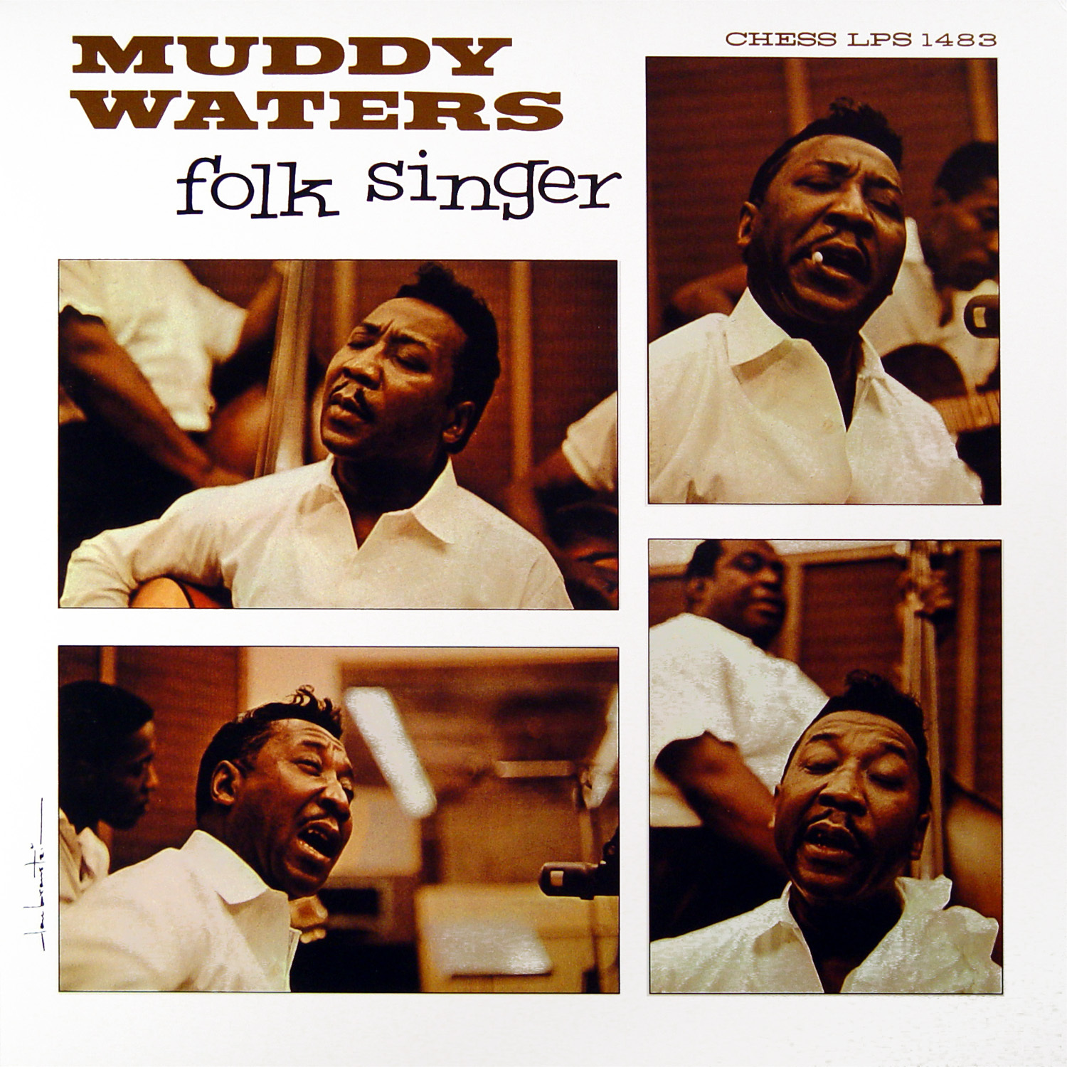 Cover art to Muddy Waters' Folk Singer LP.