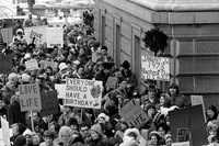 On Jan. 22, 1973, the day of the court's decision, an estimated 5,000 women and men formed a