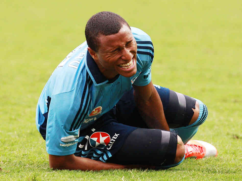The face says it all: Yairo Yau grimaces during a December 2012 match between Sydney FC and the Melbourne Heart in Sydney.