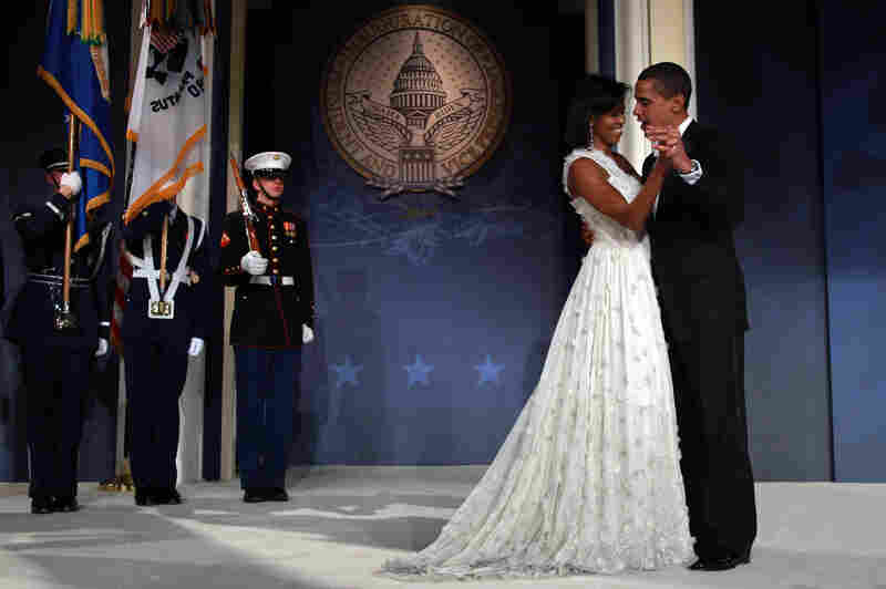 First dance: Newly sworn in President Obama and the first lady dance during the inaugural ball on Jan. 20, 2009, in Washington, D.C.