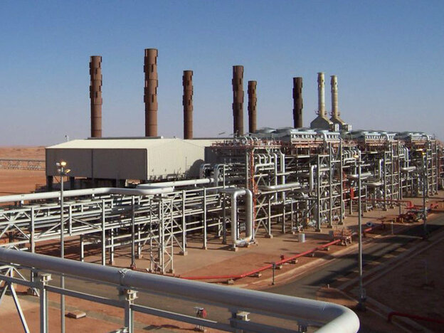 Islamist militants raided the In Amenas natural gas field (pictured) in Algeria on Wednesday.