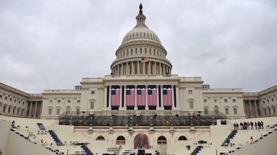 As workers prepare the Capitol for Monday's inaugural ceremony, there's word that Congress might not get into another battle over the debt ceiling. (UPI /Landov)
