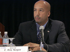 "Mayor Ray Nagin has been indicted on 21 corruption charges by a federal grand jury. They include ""conspiracy to deprive citizens of honest services."""