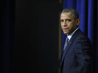 President Barack Obama attends an event on gun violence reduction proposals at the White House on Wednesday.