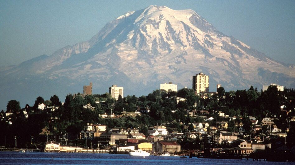 "Tacoma, Wash., tops The Advocate magazine's list of ""Gayest Cities in America."" It was followed by Springfield, Mass., and Spokane, Wash. Advocate editor Matthew Breen says marriage equality gave the advantage to cities in Washington state this year. (USGS Cascades Volcano Observatory)"