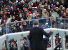 President Obama gives his inaugural address after taking the oath of office Monday.