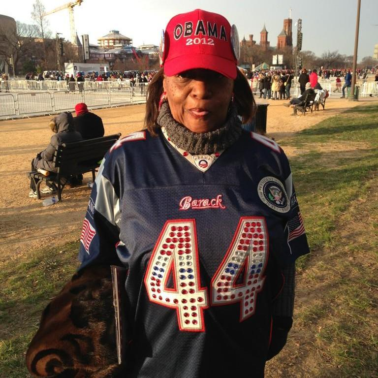 Cheryl Copeland of Chicago, on the National Mall early today.