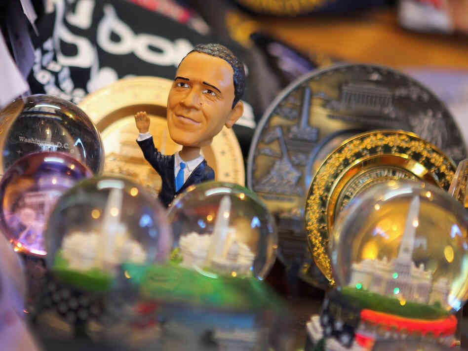 Souvenirs are available in Washington, D.C., as the city celebrates the inauguration.