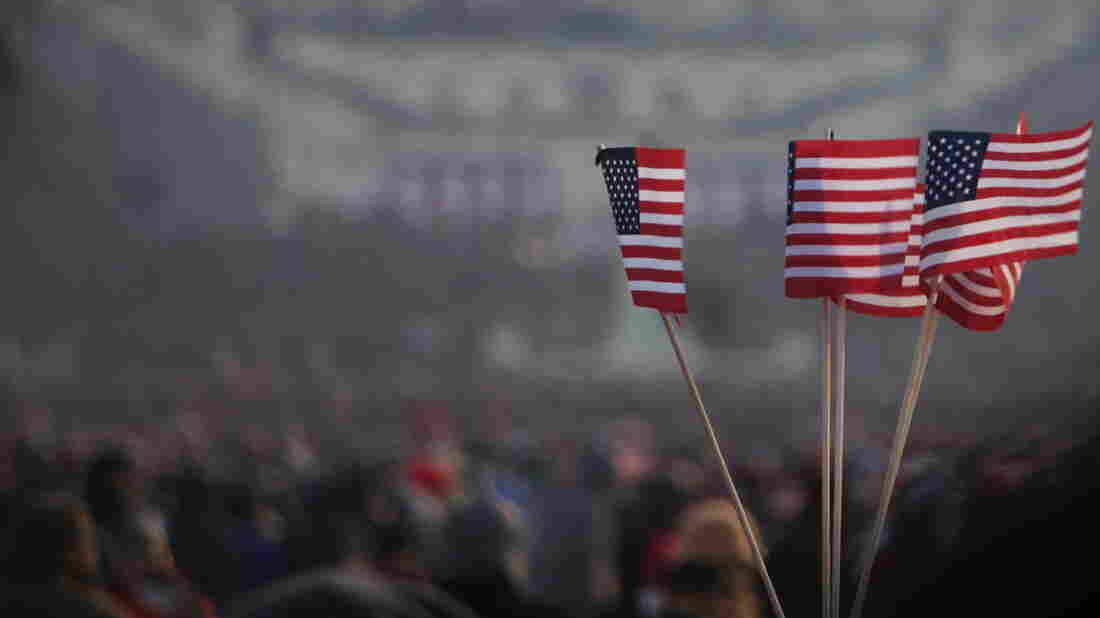 As a second-term president, Barack Obama necessarily generates less excitement than he did as a newcomer. Above, flags flew during his 2009 inauguration.