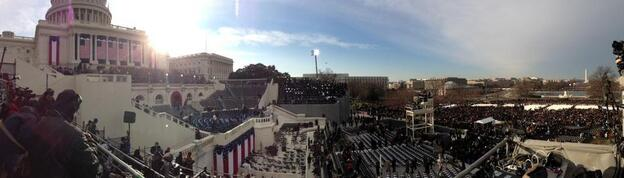 The Capitol early on Inauguration Day.