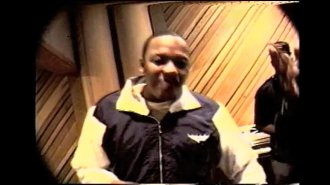 Dr. Dre in studio.