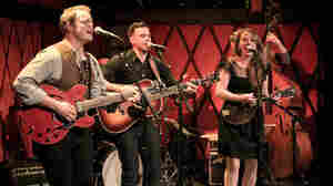 The Lone Bellow performs at Rockwood Music Hall.