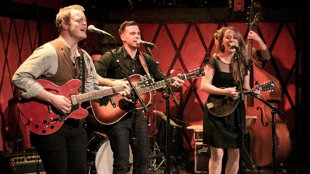 The Lone Bellow performs at Rockwood Music Hall. (WFUV)