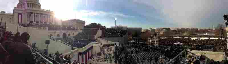 As the sun starting to rise on inauguration morning, Morning Edition Assistant Editor Arnie Seipel posted this panoramic view of the U.S. Capitol on Twitter.