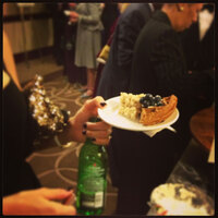 Rice pudding, blueberry waffles, and a Heineken for dessert at the New Jersey State Society Ball on Saturday night.