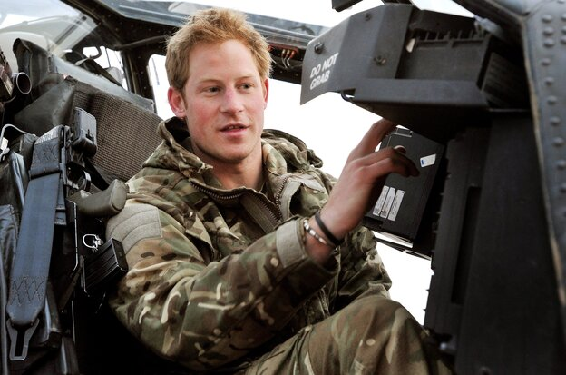 "Prince Harry, known when on duty as ""Capt. Wales,"" in the cockpit of an Apache helicopter while he was in Afghanistan last month."