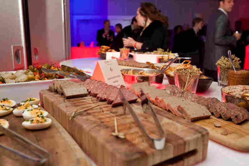 Pate at the hors d'oeuvres table at the Chefs Ball.
