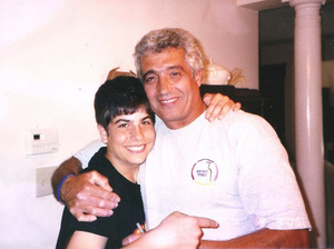 Michael Israel (shown here, left, with his father, Avi, in 2006) killed himself after becoming addicted to prescription painkillers.