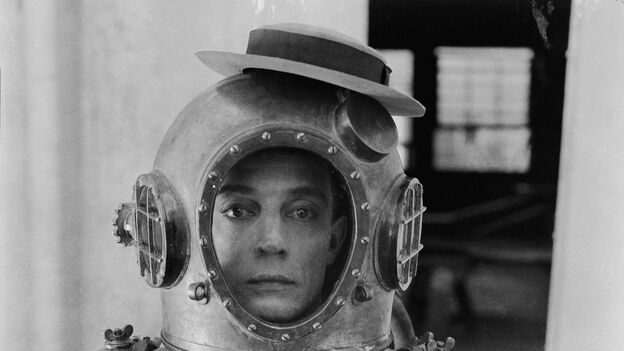 "Buster Keaton, aka ""The Great Stone Face,"" brought side-splitting comedy to the silent-screen era. Here, he's pictured in 1924's The Navigator. (Kino Lorber)"
