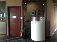 This 5-foot plexiglass piece of art resembling a freshly poured glass of milk sits near the door at Dairy Farmers of America headquarters in Kansas City, Mo.