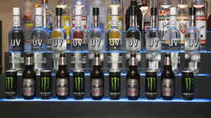 The bar at a surprise birthday party for Teen Wolf's Stephen Lunsford, presented by Monster Energy last November in Los Angeles.