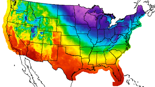Those deep blues and purples are where it's going to be really cold today. (National Weather Service)