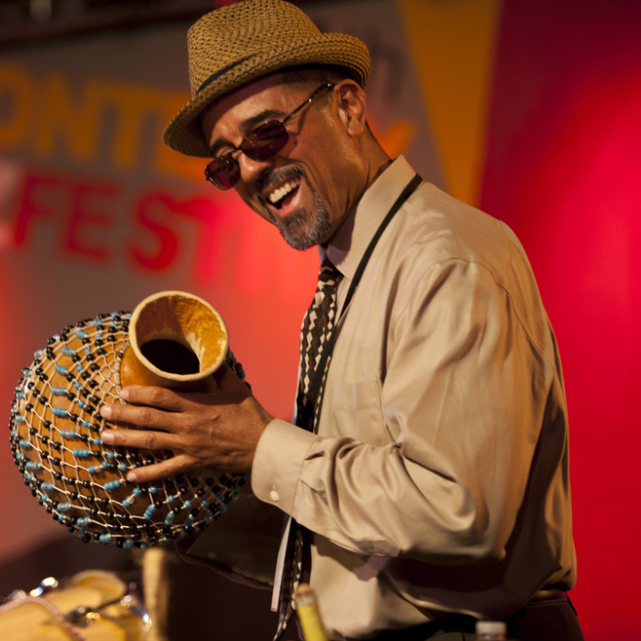 John Santos at the 2011 Monterey Jazz Festival.