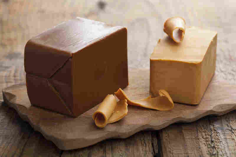 A truckload of brunost cheese, like the kind seen here, recently caught fire in a Norwegian tunnel.
