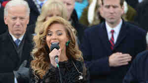 Beyonce at the inauguration.