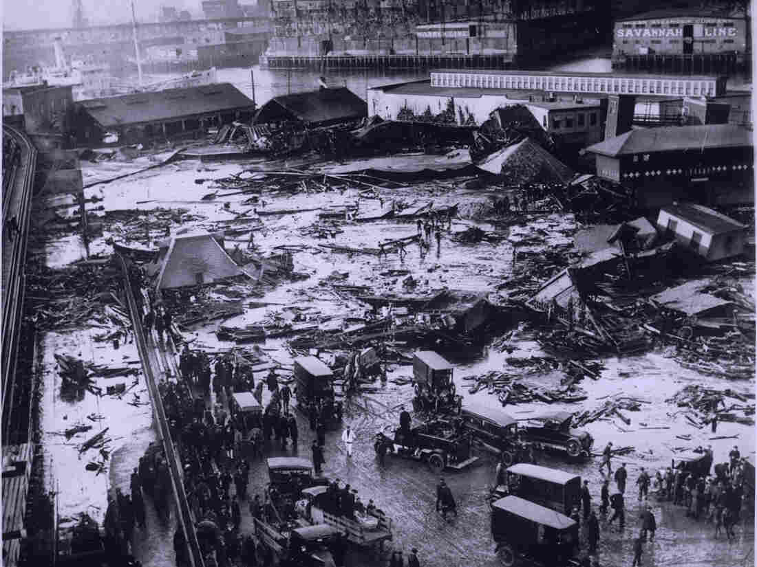 Twenty-one people were killed on Commercial Street in Boston's North End when a giant tank of molasses exploded in 1919.