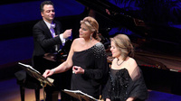 Reneé Fleming (right) and Susan Graham — two