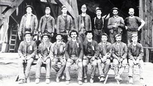 Gold Rush-era miners from the Keystone Mine near Sutter Creek, Calif.