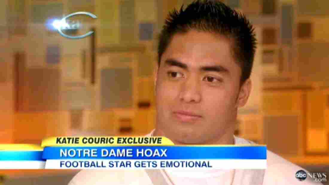 Manti Te'o during his interview with Katie Couric.