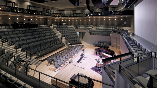 The interior of the auditorium at the new SFJAZZ Center. (Courtesy of SFJAZZ)