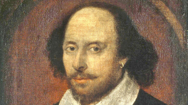 William Shakespeare, depicted in this 17th century painting, penned his sonnets on parchment. Now his words have found a new home ... in twisting strands of DNA. (National Portrait Gallery)