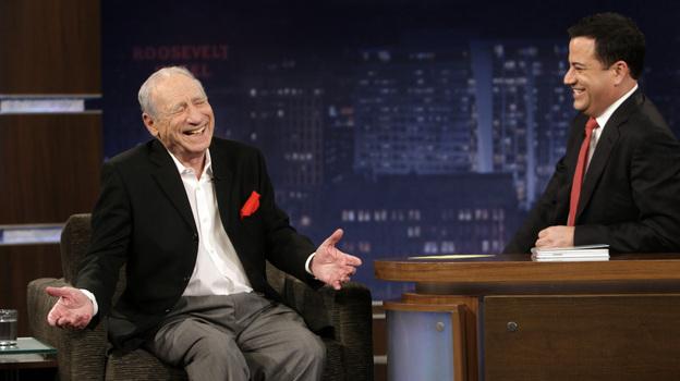 Comedian Jimmy Kimmel interviews Mel Brooks on Jimmy Kimmel Live. (ABC)